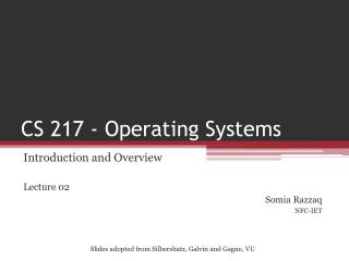 CS 217 - Operating Systems
