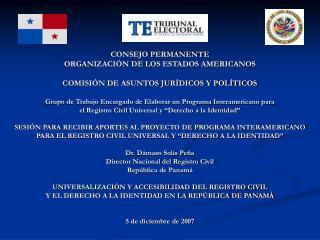 CONSEJO PERMANENTE ORGANIZACIÓN DE LOS ESTADOS AMERICANOS