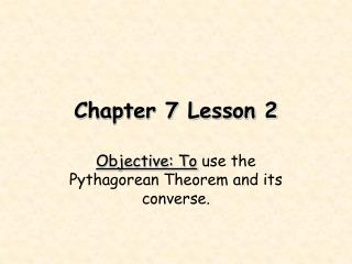 Chapter 7 Lesson 2
