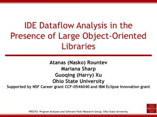 IDE Dataflow Analysis in the Presence of Large Object-Oriented Libraries