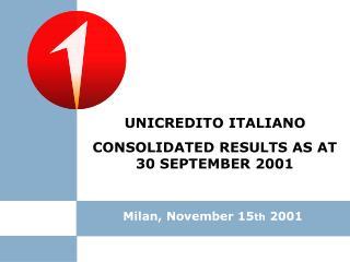 Milan, November 15 th  2001