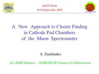 A   New   Approach to Cluster Finding   in Cathode Pad Chambers  of  the  Muon  Spectrometer