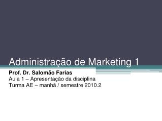 Administração de Marketing 1