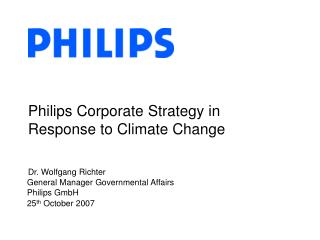 Philips Corporate Strategy in Response to Climate Change