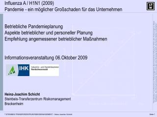 Betriebliche Pandemieplanung Aspekte betrieblicher und personeller Planung