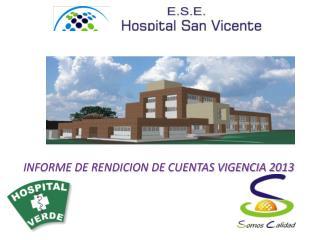 INFORME DE RENDICION DE CUENTAS VIGENCIA 2013