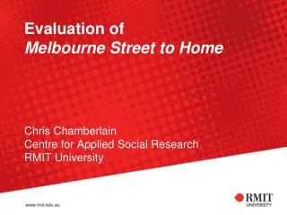 Overview of Melbourne Street to Home program