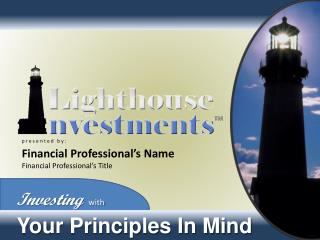 Investing with Your Principles In Mind