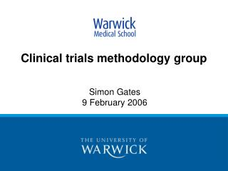 Clinical trials methodology group