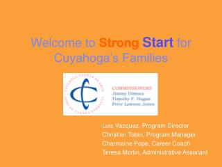 Welcome to  Strong Start for Cuyahoga's Families