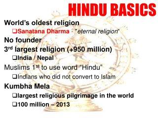 HINDU BASICS