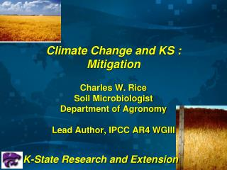 Climate Change and KS  :   Mitigation