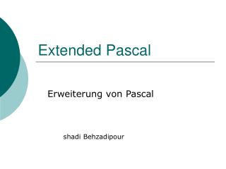 Extended Pascal