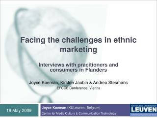 Facing the challenges in ethnic marketing