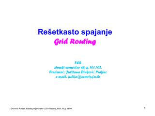 Re�etkasto spajanje Grid Routing