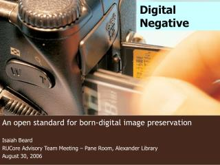 An open standard for born-digital image preservation