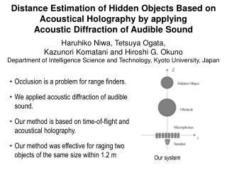 Occlusion is a problem for range finders. We applied acoustic diffraction of audible sound.
