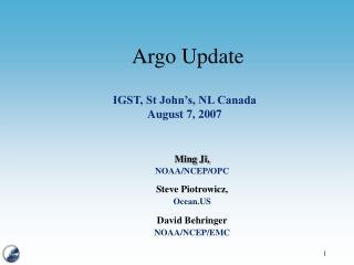 Argo Update