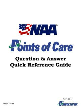 Question & Answer Quick Reference Guide