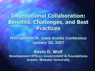 International Collaboration: Benefits, Challenges, and Best Practices