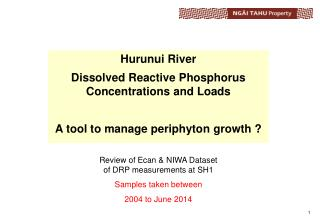 Hurunui River Dissolved Reactive Phosphorus Concentrations and Loads