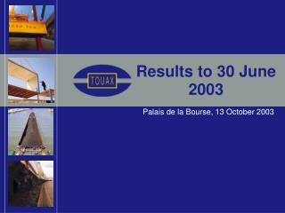 Results to 30 June 2003