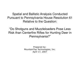 Prepared by: MountainTop Technologies, Inc. April 17, 2007