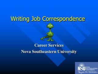 Writing Job Correspondence
