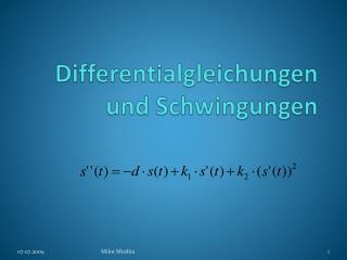 Differentialgleichungen und Schwingungen