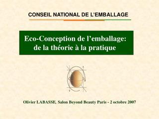 CONSEIL NATIONAL DE L'EMBALLAGE