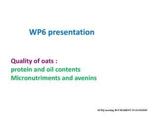 WP6  presentation