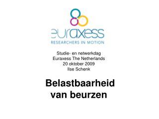 Studie- en netwerkdag  Euraxess The Netherlands 20 oktober 2009 Ilse Schenk  Belastbaarheid
