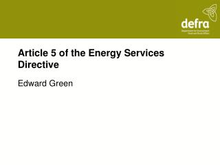 Article 5 of the Energy Services Directive