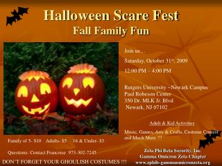 Halloween Scare Fest Fall Family Fun