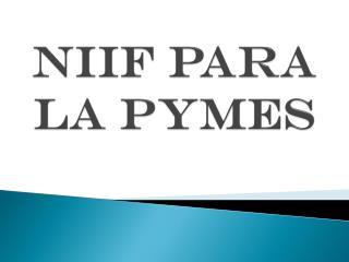 NIIF para la PYMES