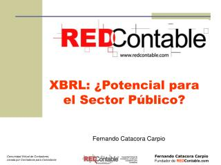 XBRL: ¿Potencial para el Sector Público?