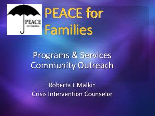 PEACE for Families