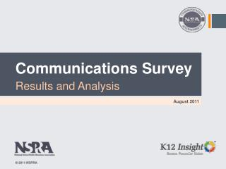 Communications Survey Results and Analysis