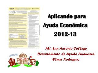 Aplicando para Ayuda Económica  2012-13