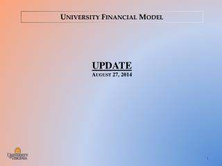 University Financial Model