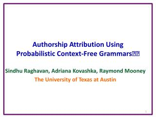 Authorship Attribution Using Probabilistic Context-Free Grammars