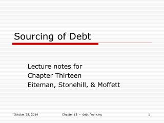 Sourcing of Debt