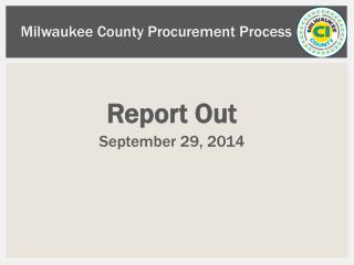 Milwaukee County Procurement Process