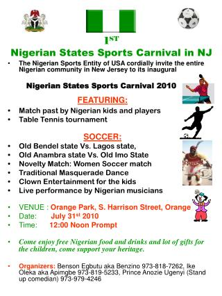1 ST Nigerian States Sports Carnival in NJ