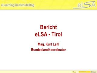 Bericht  eLSA - Tirol