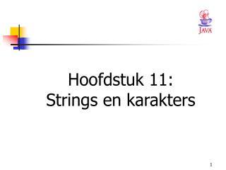 Hoofdstuk 11: Strings en karakters