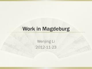 Work in Magdeburg