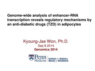 Kyoung-Jae Won,  Ph.D. Sep 8  2014  Genomics 2014