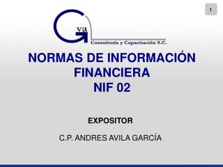 NORMAS DE INFORMACIÓN FINANCIERA NIF 02