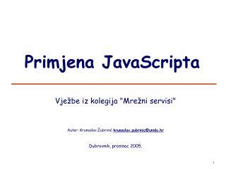 Primjena JavaScripta
